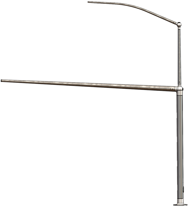 MonoCast Double Arm Single Luminaire Type 10